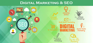Image showing relationship between SEO and Digital Marketing